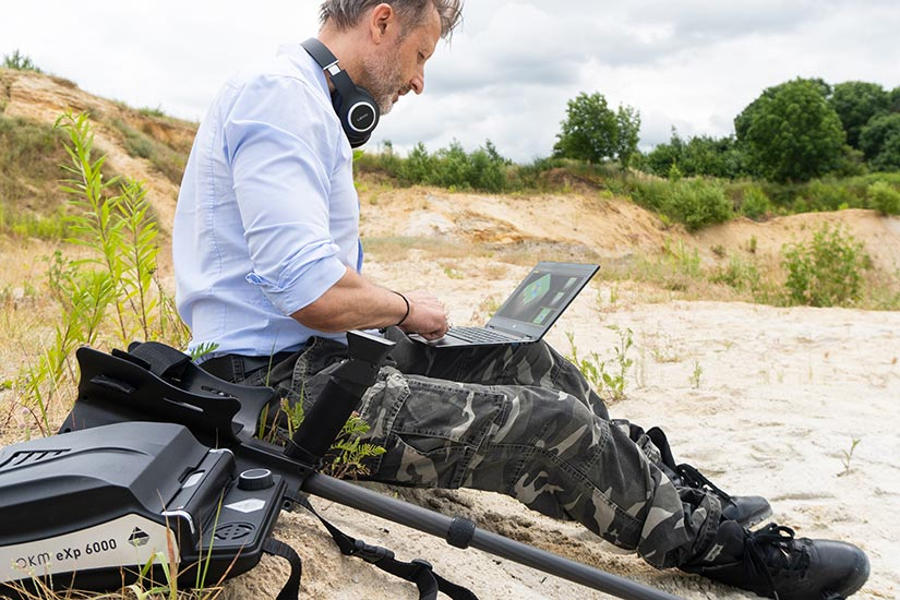 Ground scan analysis with detector software