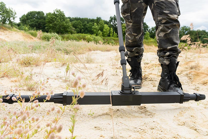 3D ground scanning with eXp 6000 Professional with Telescopic Rod