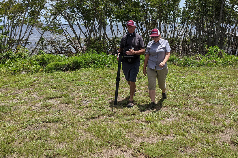 OKM eXp 6000 Training in Florida for Oak Island: Test Scan with Super Sensor