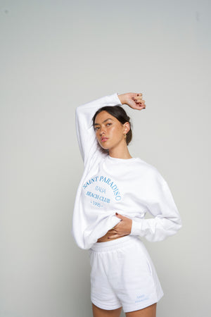 Load image into Gallery viewer, Beach Club Sweater - White
