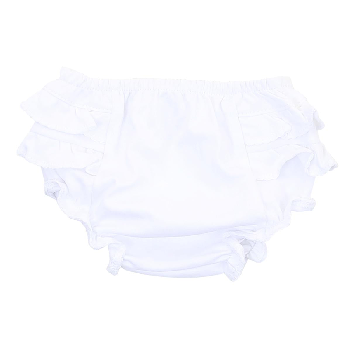 White Essentials Diaper Cover