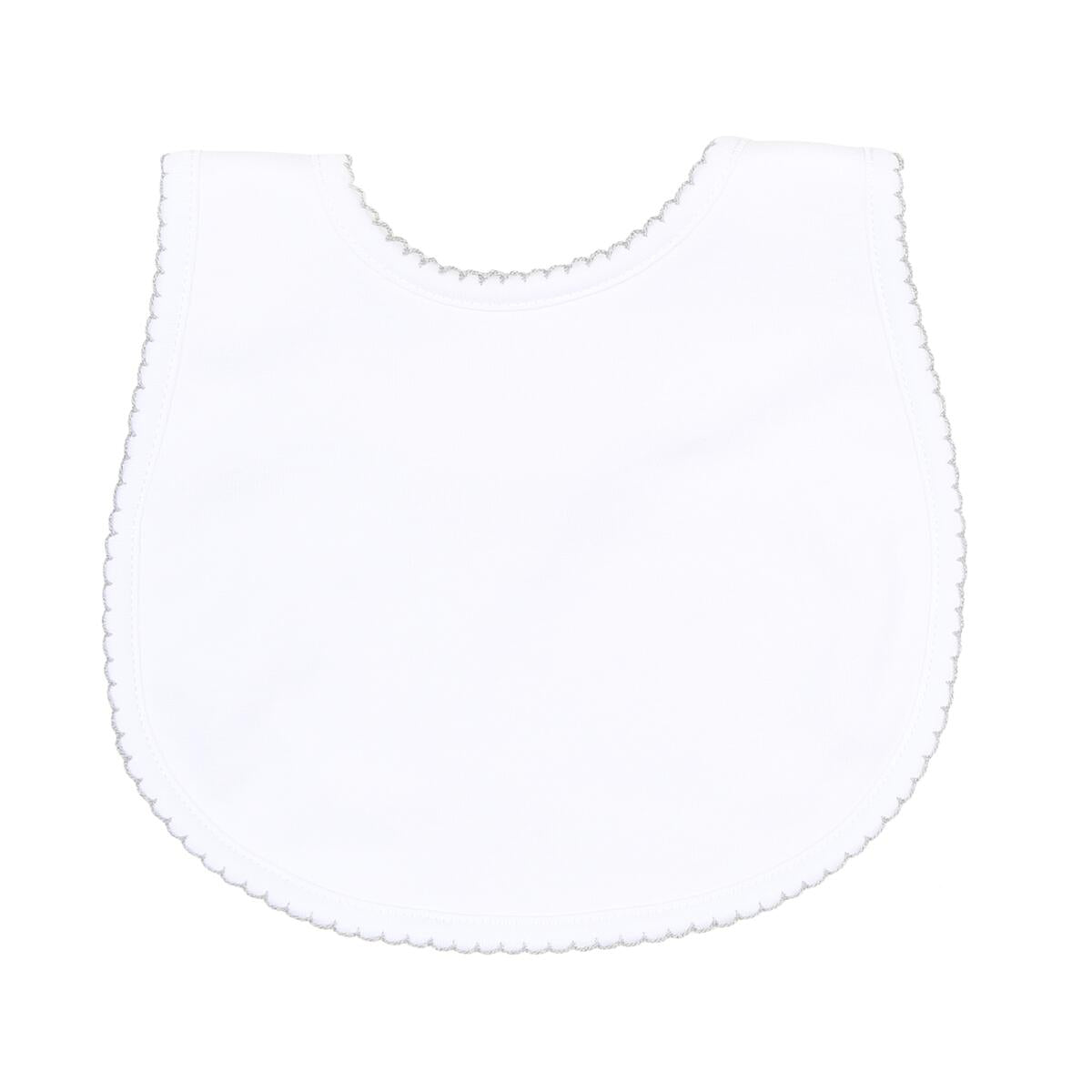 Essentials Bib- White with Silver Trim