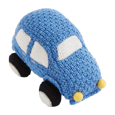 Transportation Knit Rattles- Car