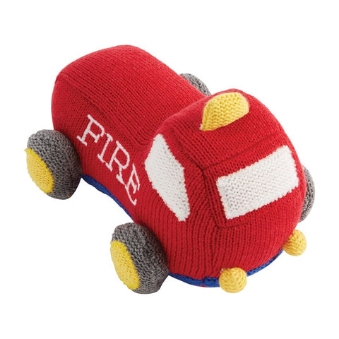 Transportation Knit Rattles- Fire