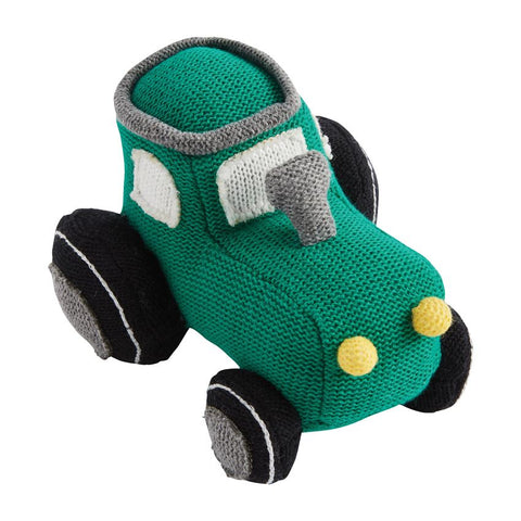 Transportation Knit Rattles- Tractor