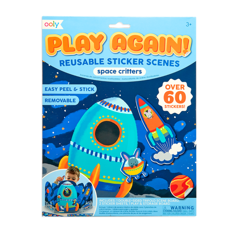 Play Again! Reusable Sticker Scenes- Space Critters