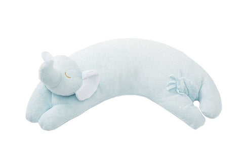 Curved Pillow Elephant- Blue