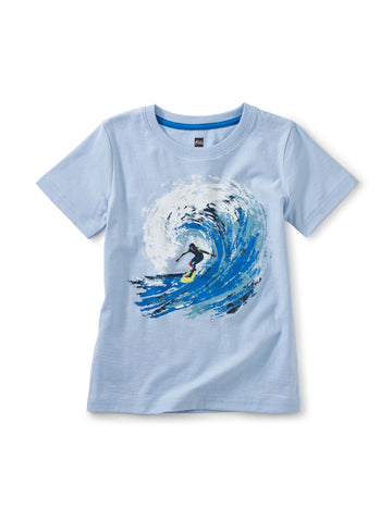 Barrel Wave Graphic Tee- Iceberg