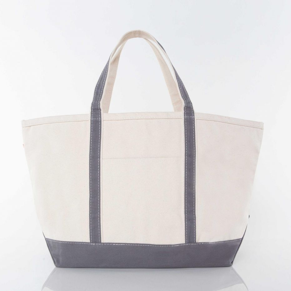 Large Boat Tote-  Gray