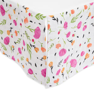 Cotton Muslin Crib Skirt