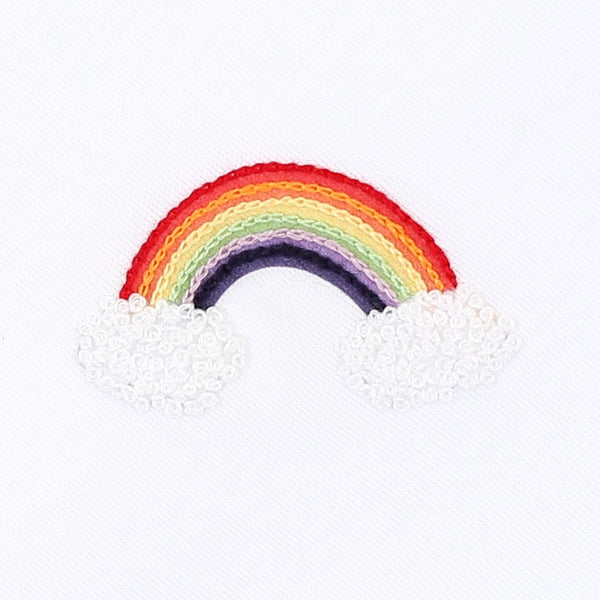 Rainbow Embroidered Baby Hat