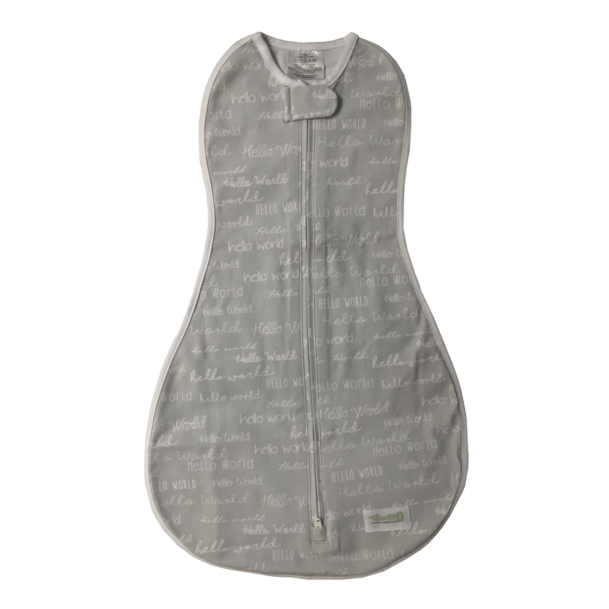 Grow with Me Swaddle - Hello World Gray
