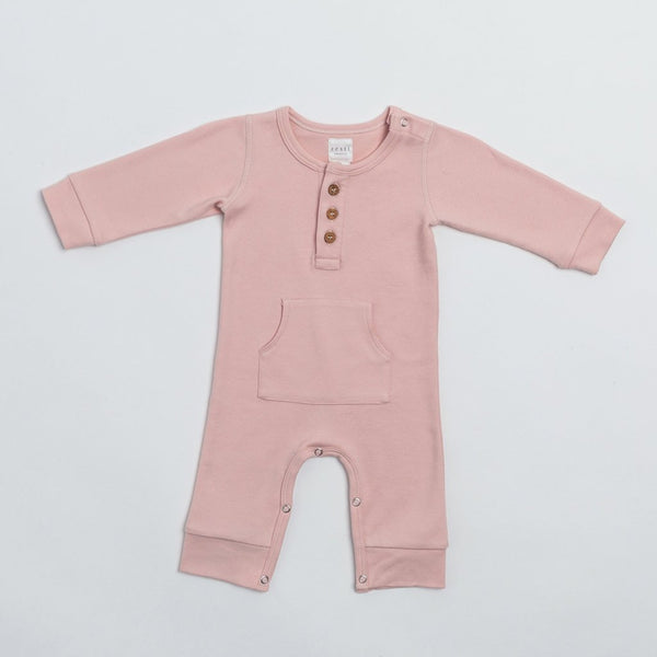 Everyday LS Romper- Blush