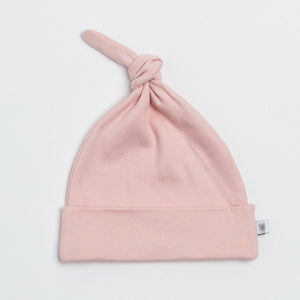 Organic Cotton Everyday Top Knot Hat- Blush