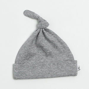 Organic Cotton Everyday Top Knot Hat- Gray