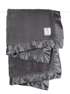 Chenille Blanket Charcoal