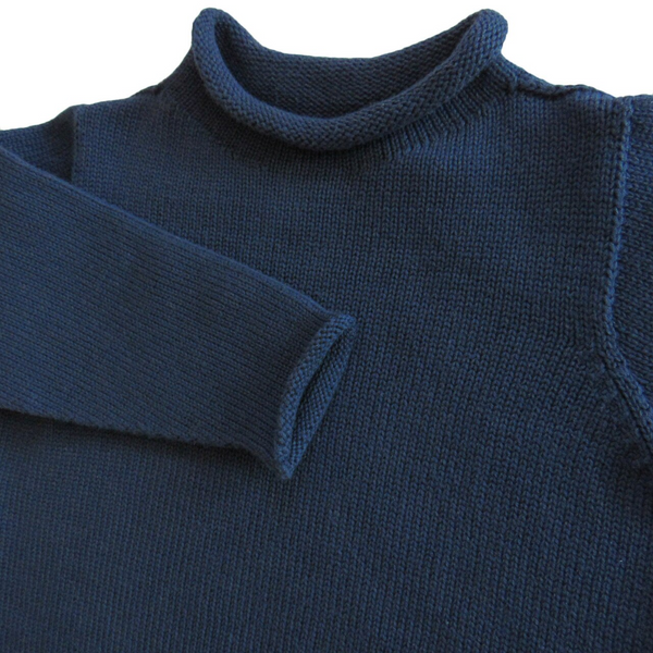 Jersey Rollneck Sweater- Navy