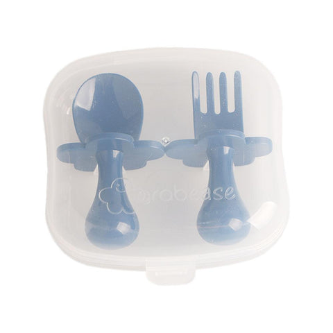 Fork & Spoon Set With Protective Case- Navy