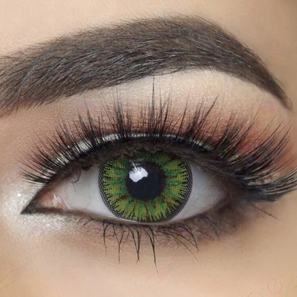 Bright Forest Green Colored Contact Lenses Beauon