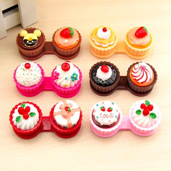 Cakes Multicolor Colored Contact Lens Case Beauon