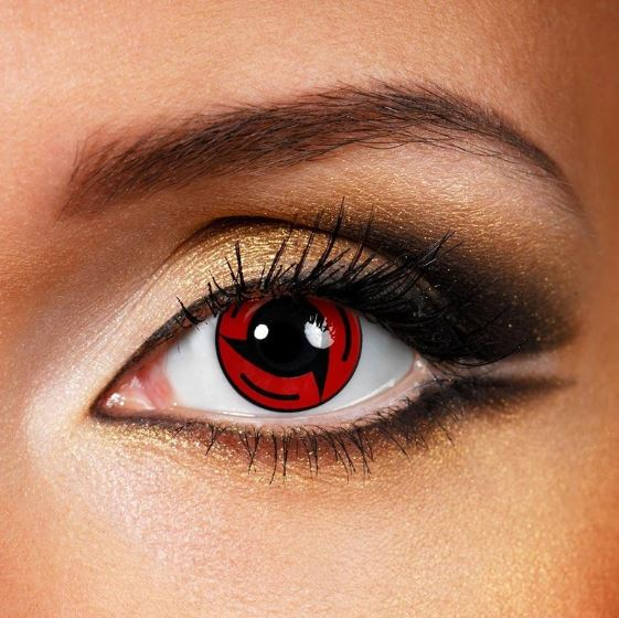 Cosplay Sharingan Bladed Red Colored Contact Lenses Beauon