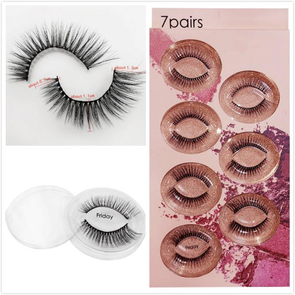 Friday 7 Piece Mink Hair Eyelashes Beauon