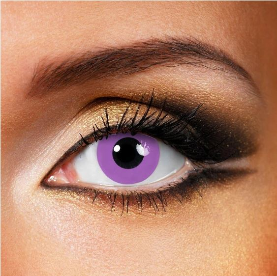 Halloween Grey violet block Purple Colored Contact Lenses Beauon