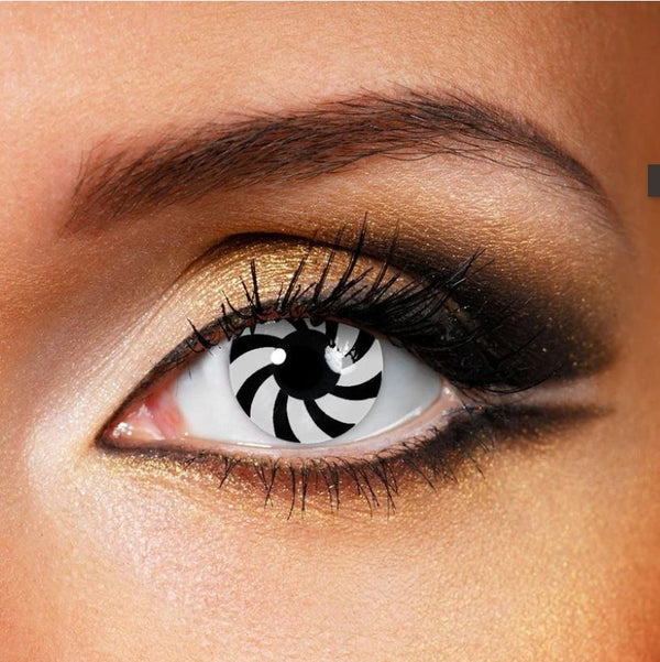 Halloween OPTICAL ILLUSION Black Colored Contact Lenses Beauon