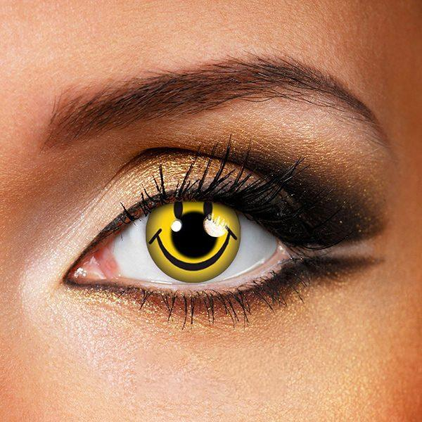 Halloween smile yellow Colored Contact Lenses Beauon