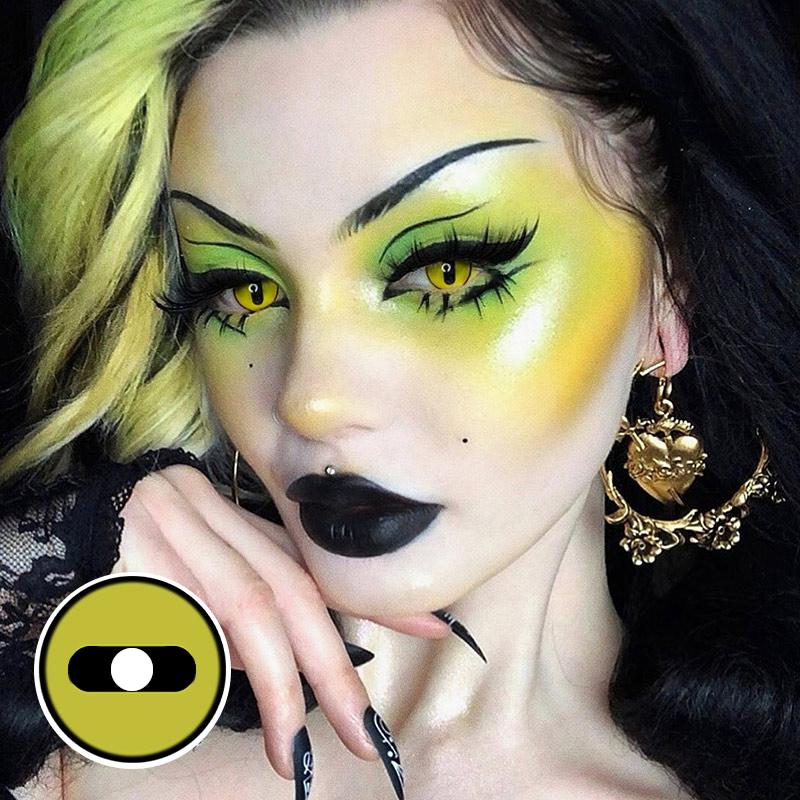 Halloween Snake 1 Green Colored Contact Lenses Beauon