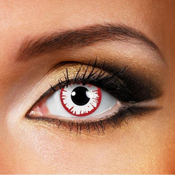 Halloween WHITE DEMON Red Colored Contact Lenses Beauon