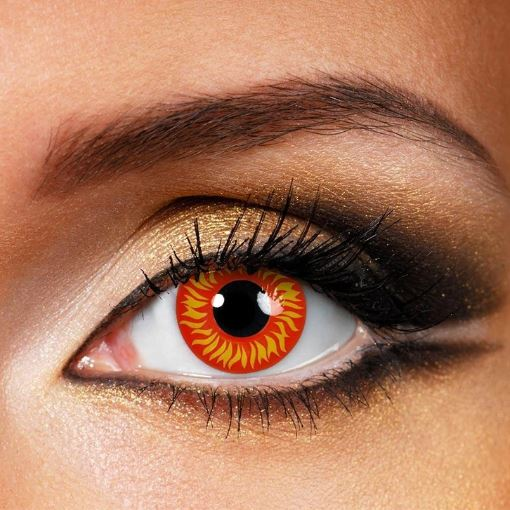 Halloween WOLF EYES Red Colored Contact Lenses Beauon
