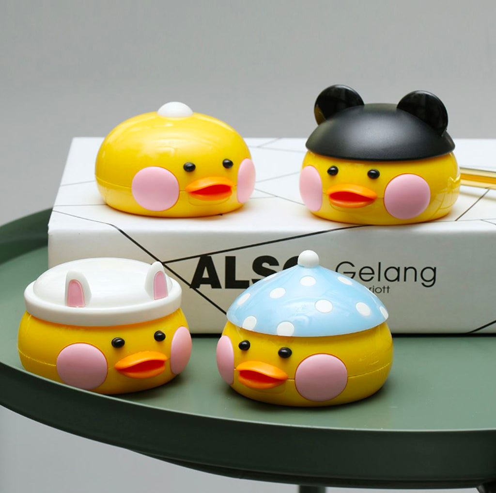 Hyaluronan Duck Multicolor Colored Contact Lens Case Beauon