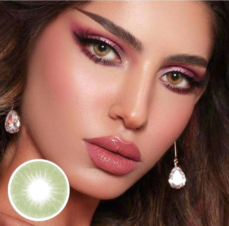 Kiwi AD.ARENA Green Colored Contact Lenses Beauon