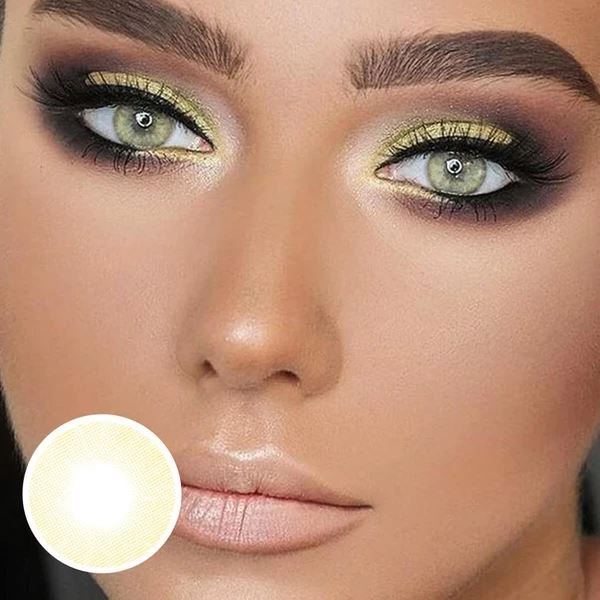 Lemon Creamy Yellow Colored Contact Lenses Beauon