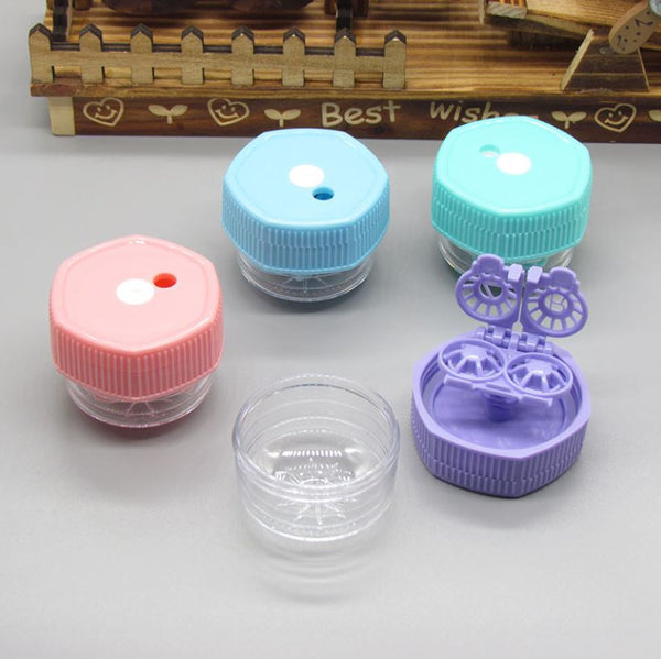 Manual rotary cleaning Multicolor Colored Contact Lens Case Beauon