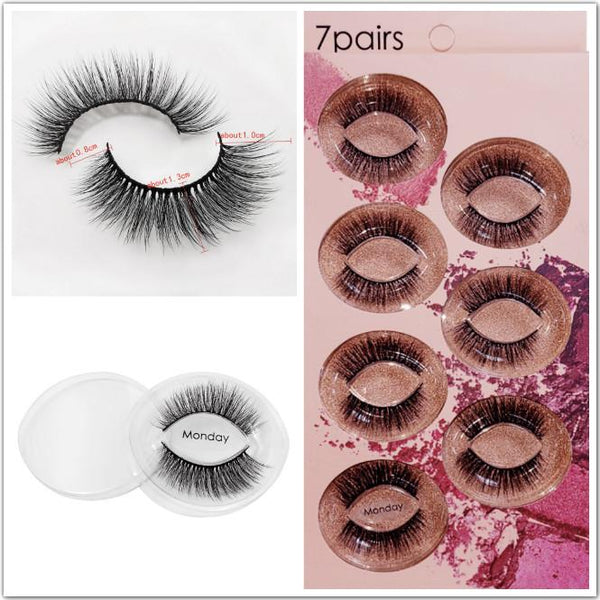 Monday 7 Piece Mink Hair Eyelashes Beauon