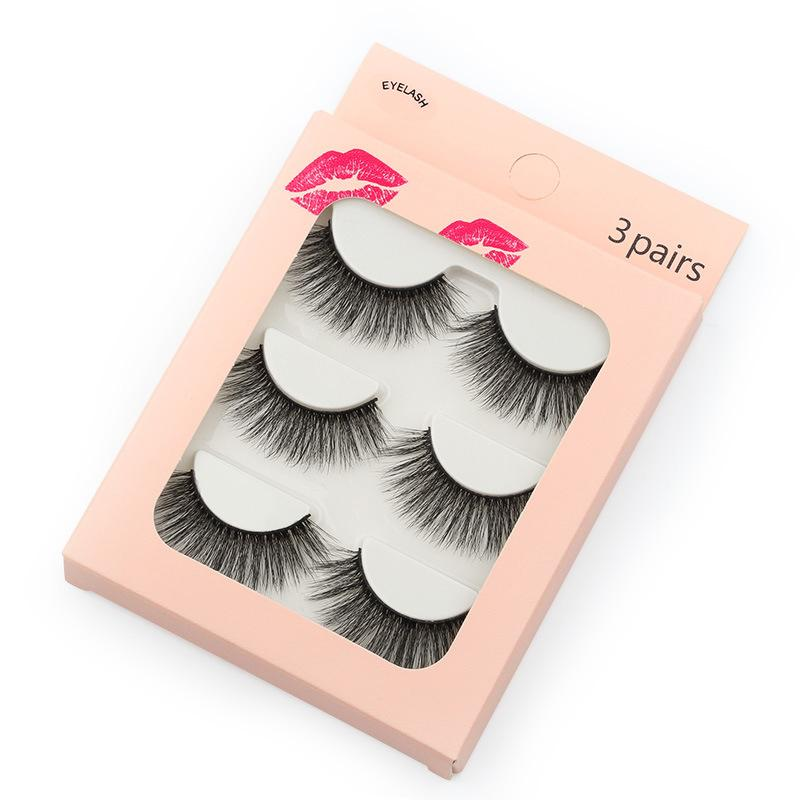 New Waterproof 3 Piece Mink Hair Eyelashes Beauon