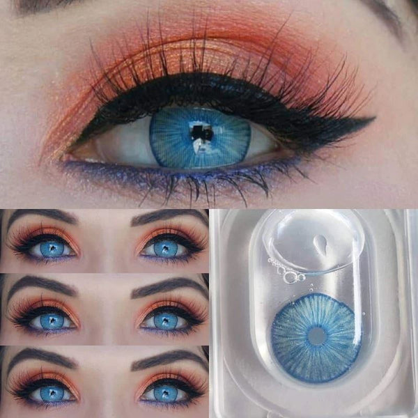 New York Blue Colored Contact Lenses Beauon