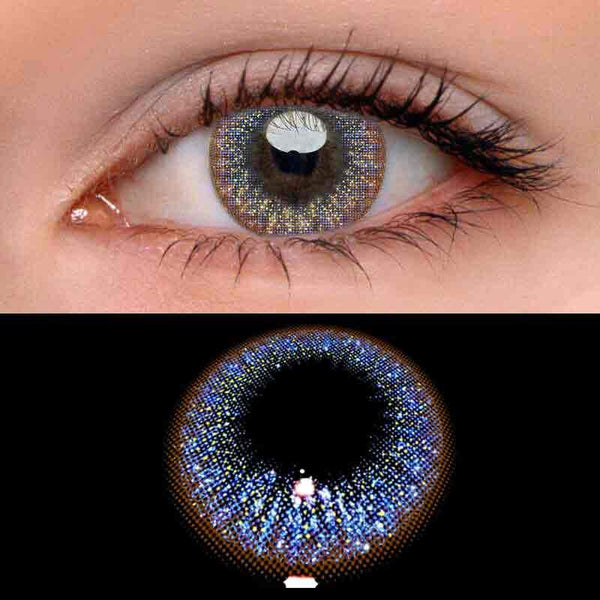 Solar Blue Colored Contact Lenses Beauon