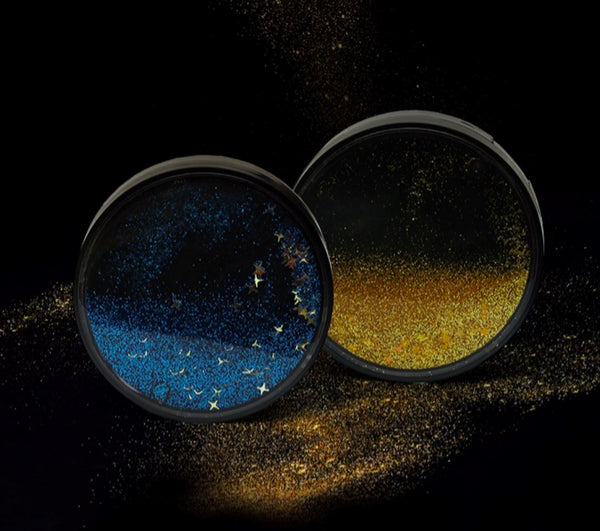 Starry Sky Quicksand Multicolor Colored Contact Lens Case Beauon