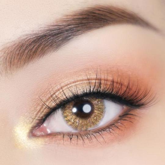 Super Crystal Glitter Brown Colored Contact Lenses Beauon