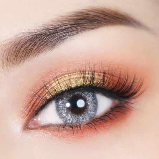 Super Crystal Glitter Gray Colored Contact Lenses Beauon