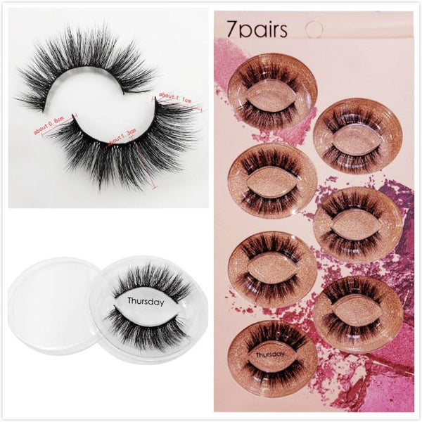 Thursday 7 Piece Mink Hair Eyelashes Beauon