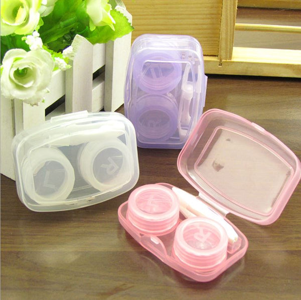 Transparent Multicolor Colored Lens Case Beauon Pink