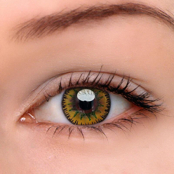 Vega Gold Yellow Colored Contact Lenses Beauon