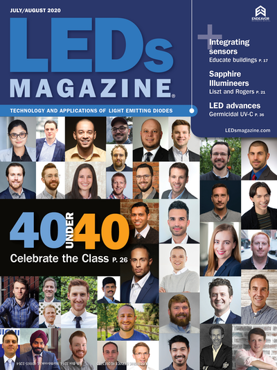 Congratulations to our CEO and Founder Andersen Zapata for Receiving the 40 under 40  from LEDs Magazine