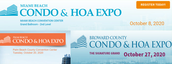 Lighting of Tomorrow Will be Attending these HOA & Condo Expos in October