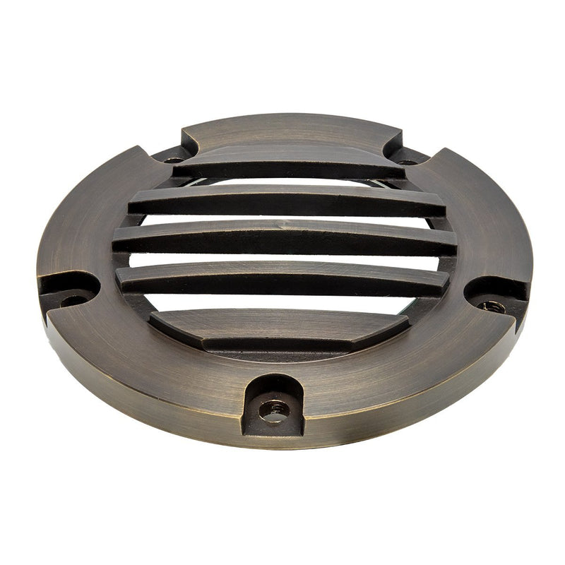 Well Light With Classic Brass Louvered Top