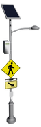 RRFB Crosswalk Solar Lighting System